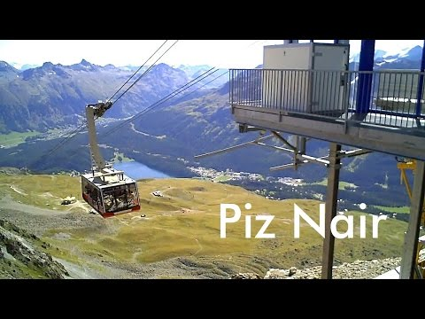 SWITZERLAND: Piz Nair - mountain above St. Moritz (3,057 m) [HD]