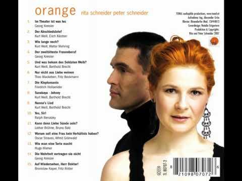 """CD """"orange"""" - Nur nicht aus Liebe weinen (Theo Mackeben, Fritz Beckmann)"""