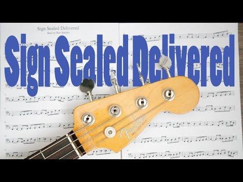 Sign Sealed Delivered Cover | Bob Babbitt bass transcription | Stevie Wonder | bass play a long