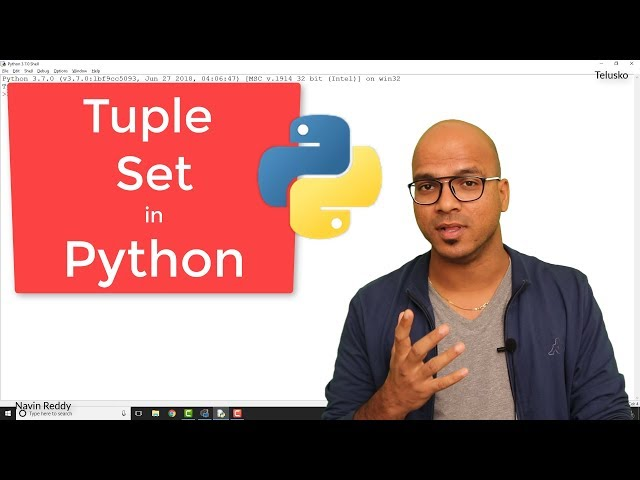 #6 Python Tutorial for Beginners | Tuple | Set in Python