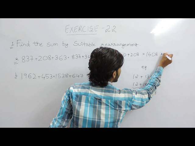 Exercise 2.2 (Whole Numbers) Question 1 NCERT/CBSE Solutions for Class 6th Maths