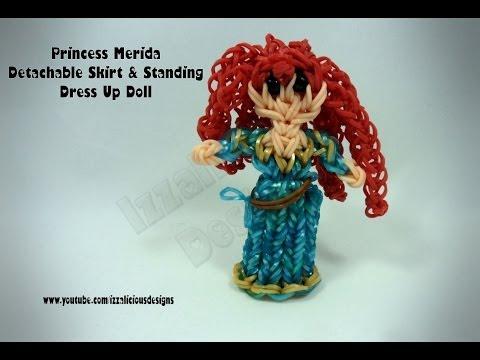 Rainbow Loom Princess Merida Charm/Action Figure - Detachable Skirt/Standing DressUp Doll - Gomitas