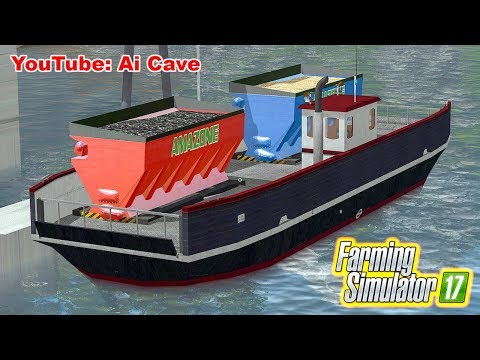 How To Use Ferry (Boat) - Mining & Construction Economy Map | Farming Simulator 2017 Mods