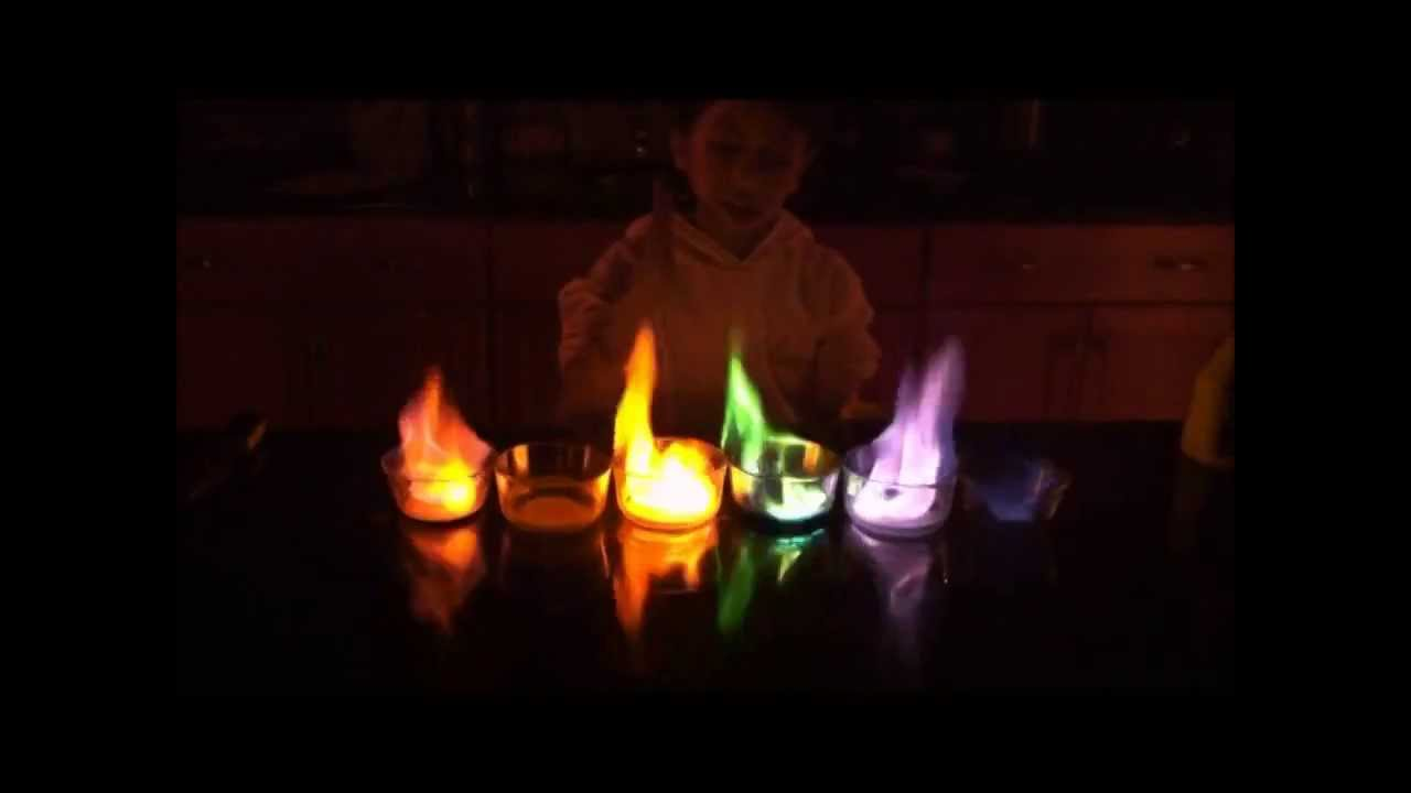 5th grade science project RAINBOW FLAME - YouTube