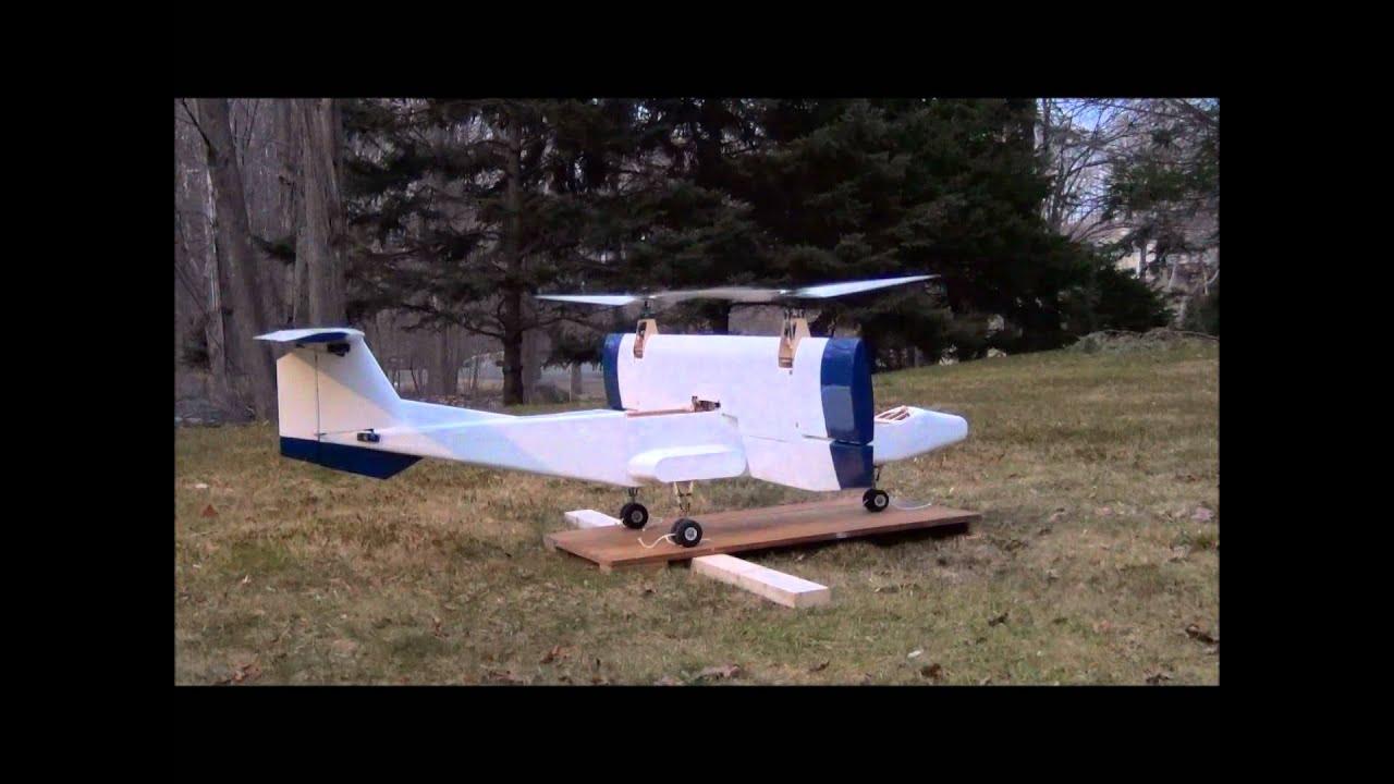 RC VTOL Tilt-Wing: Tie Down Test