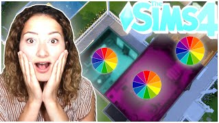 The Sims 4 But Every Room Is A Different Colour! - Solid Colour Build Challenge - Rainbow Edition🌈
