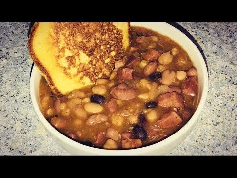 15 Bean Soup With Ham Recipe With Homemade Jiffy Mix Pancakes