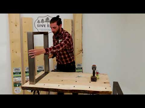 Live Edge Timber DIY wood project: How to install steel table legs