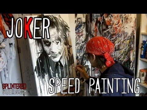JOKER Pop Art SPEED PAINTING - By Artist Stephen Quick - Joker #5 Batman