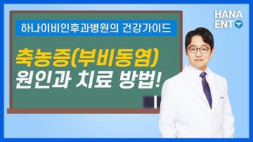 축농증 | 부비동염 증상과 원인,치료방법[하나이비인후과병원]