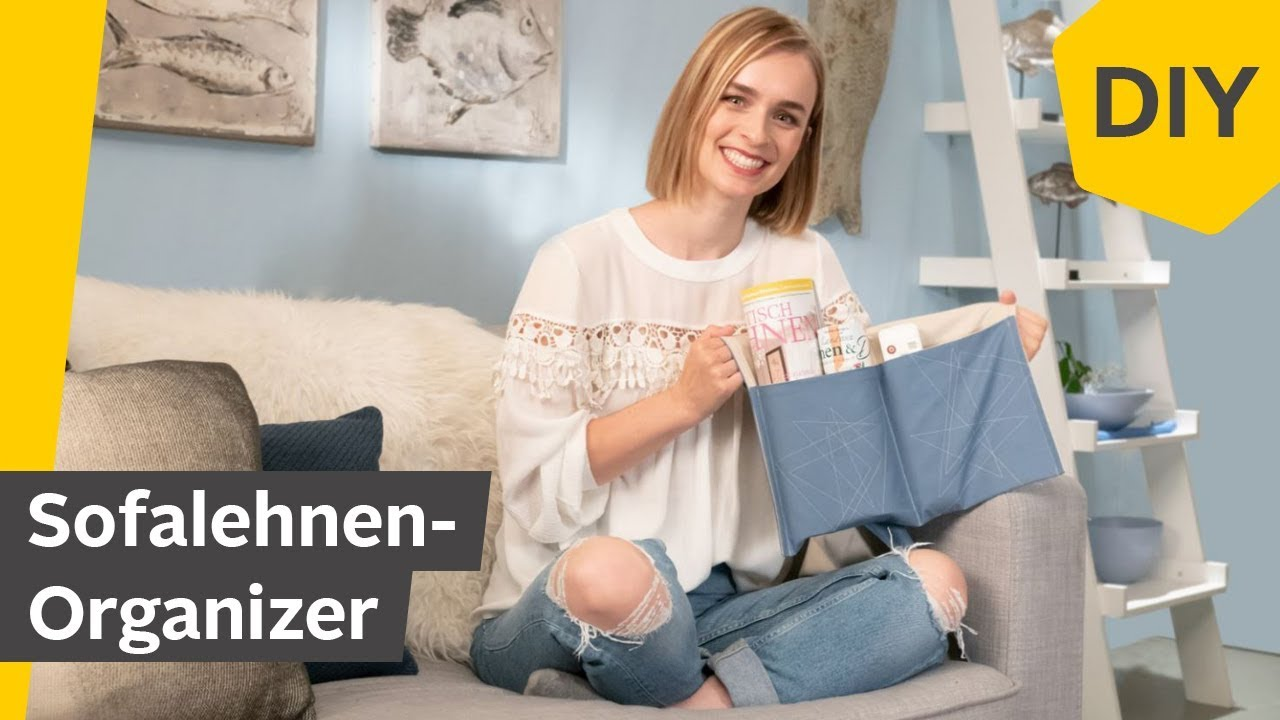 DIY: Sofaorganizer selber nähen   Roombeez – powered by OTTO - YouTube