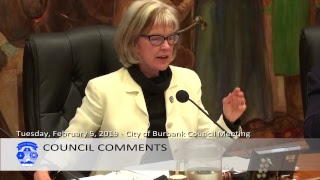 Burbank City Council Meeting - February 5, 2019