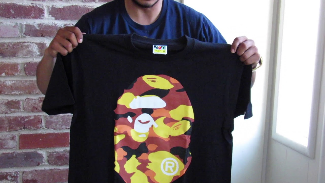 1121ccfd 1st camo big ape head tee - YouTube