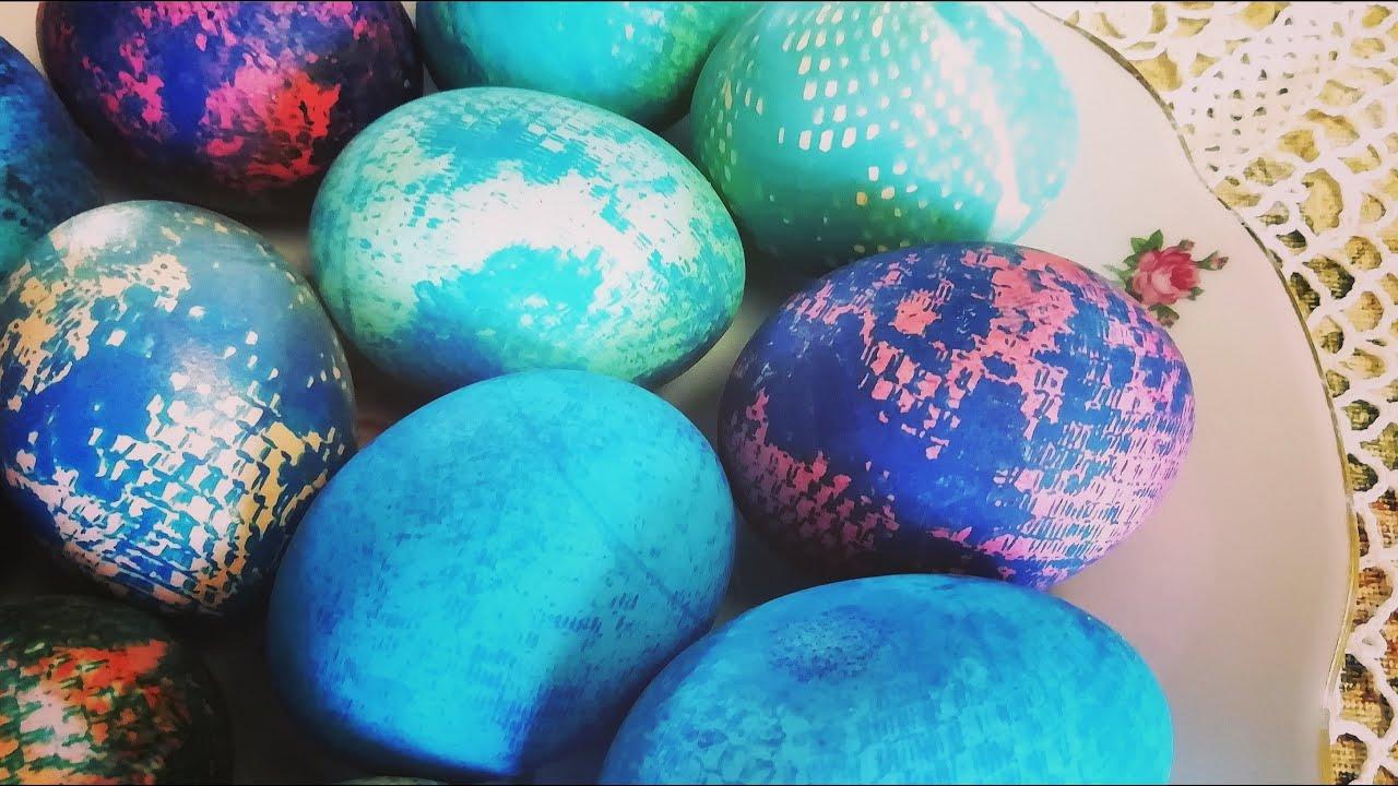 Новый способ покрасить яйца на Пасху, оригинально и ...
