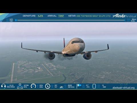 X-Plane 11: Delta Airlines | New York to Bermuda | FF 757-200 | HD