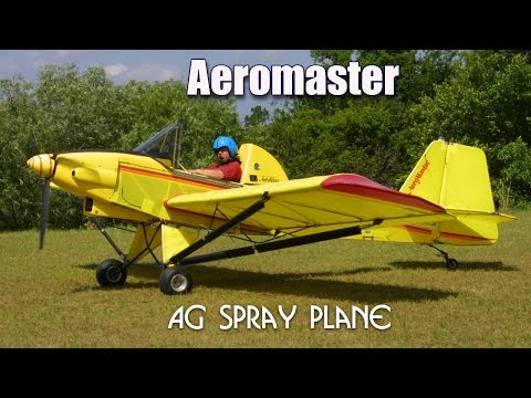 Aeromaster Spray plane, Aerolite Aeromaster experimental aircraft crop sprayer.