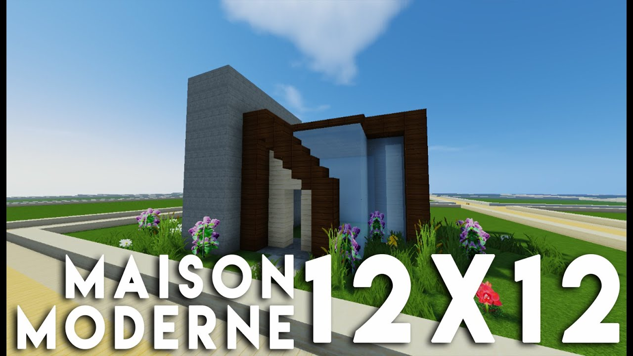 Minecraft tuto construction maison moderne en 12x12 sur for Minecraft construction maison moderne