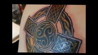 Custom Celtic Cross Tattoo