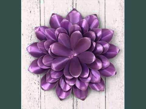 Metal Wall Flower metal wall art flowers uk | decoration ideas - youtube