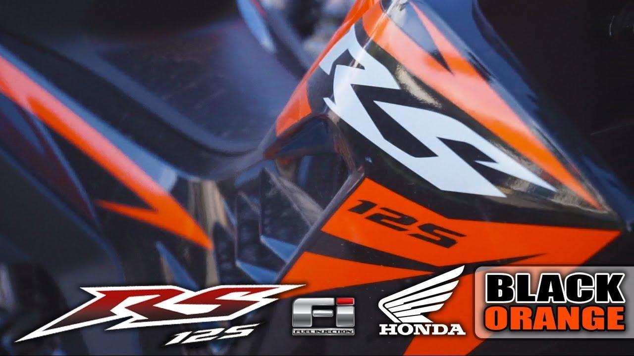 Rs 125 fi color black orange 2017 edition honda philippines motorsiklo
