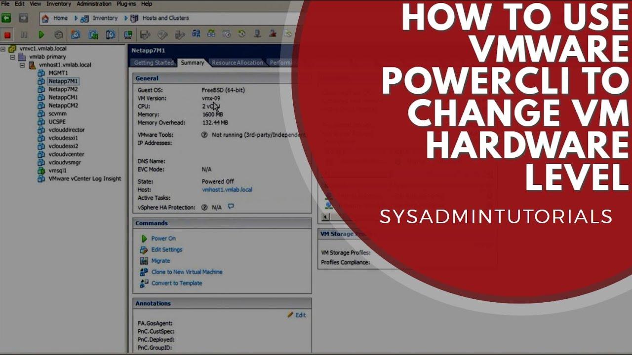 VMware Change Virtual Machine Hardware Level PowerCLI