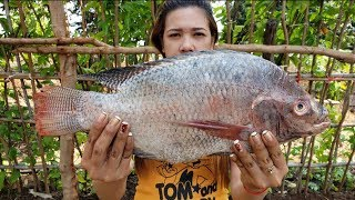 Yummy cooking Fried fish recipe   how to cook fish delicious   cooking skill