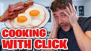 CLICK MAKES THE BEST BACON AND EGGS
