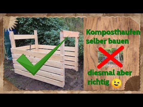 Komposthaufen Aus Holz Selber Bauen - Diesmal Aber Richtig 👌😜