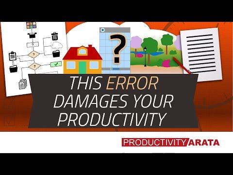 This error damages your productivity – GTD methodology | Productivity Arata 13
