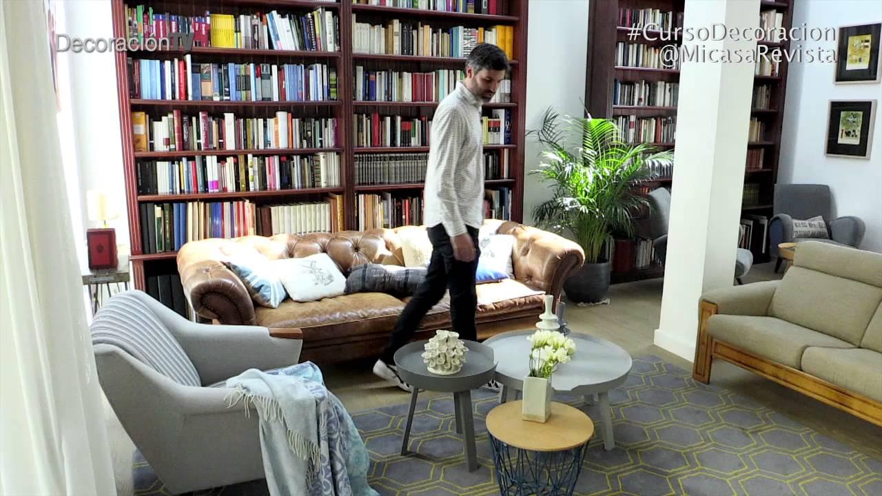 Un salón comedor con biblioteca. Curso de Decoración - Mi Casa    DecoraciónTV