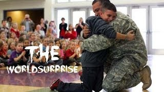 Military Dad Surprises Son at Ohio Elementary School