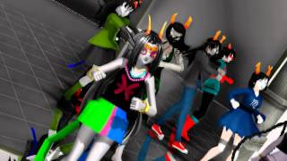 Repeat youtube video [MMD]Homestuck One-Two-Three!