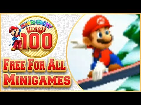 Mario Party: The Top 100 - All Free For All Minigames!