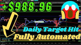 NASDAQ trading 2 contracts daily target it of +$988.96