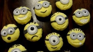 Minion-cupcakes With Self-made Frosting And Fondant