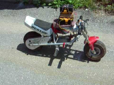 36volt electric motor run off 72volts in an 18volt Honda pocket bike motorcycle  YouTube