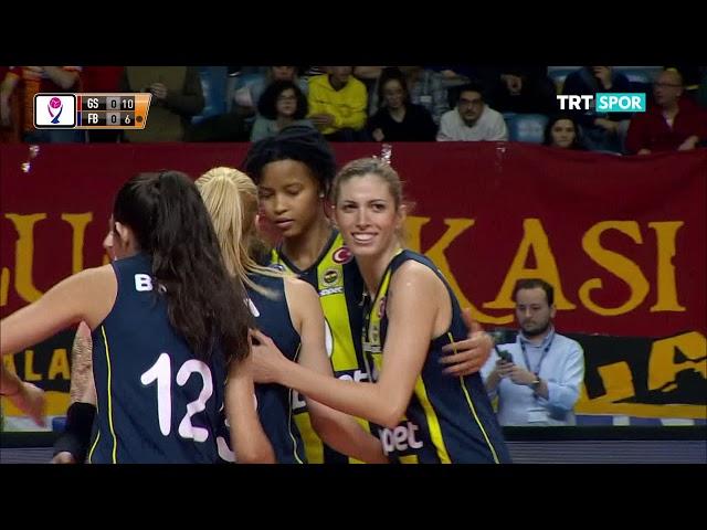 2018 - 2019 VVSL 16.Hafta Galatasaray HDI Sigorta -Fenerbahçe OPET