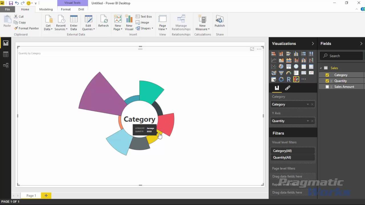 power bi custom visuals - aster plot