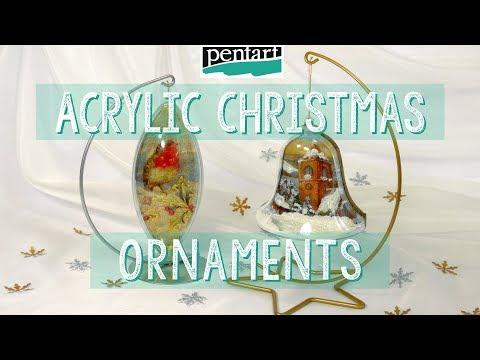 Akril karácsonyfadíszek // Acrylic Christmas Ornaments