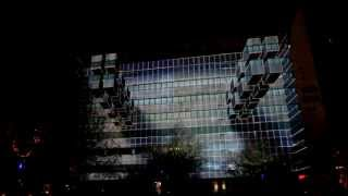 3D Projection Mapping Afterlight Gridular 3.0 Glow 2012
