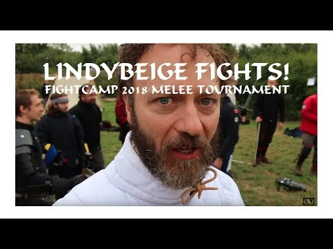 Lindybeige Goes To War: Lloyd & his team through the melee tournament at FightCamp 2018