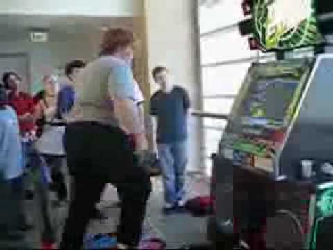 Fat Guy Playing DDR