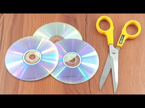 recycling cd disc craft | Best out of waste | DIY arts and crafts | recycling cd disc reuse