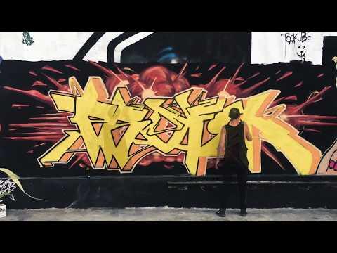 The Burning Vapor   PROPHETS   AllCaps Gallery, Canggu Bali   GRAFFITI Time Lapse (Full Video)