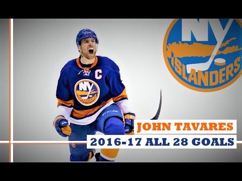 John Tavares (#91) ● ALL 28 Goals 2016-17 Season (HD)