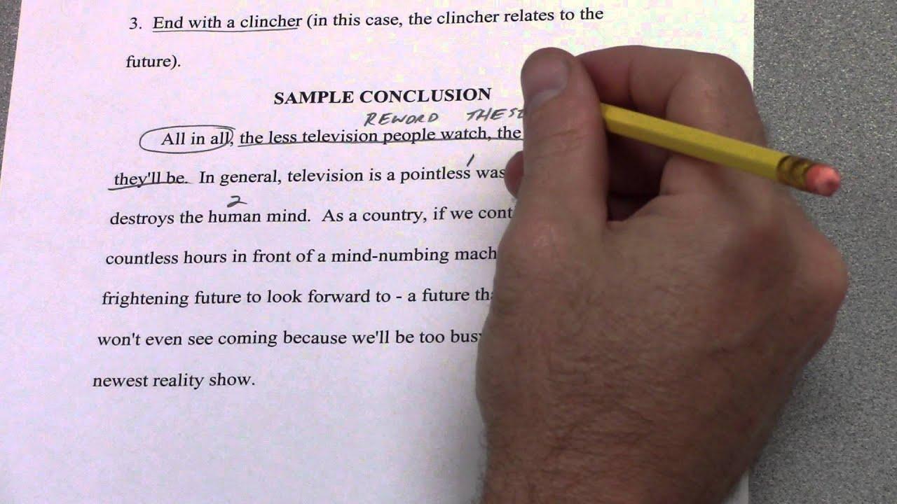 12-Paragraph Timed Argumentative Essay -- Part 12 -- Conclusion Paragraph