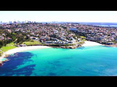 Bronte beach, Sydney, Australia (drone view 4K)