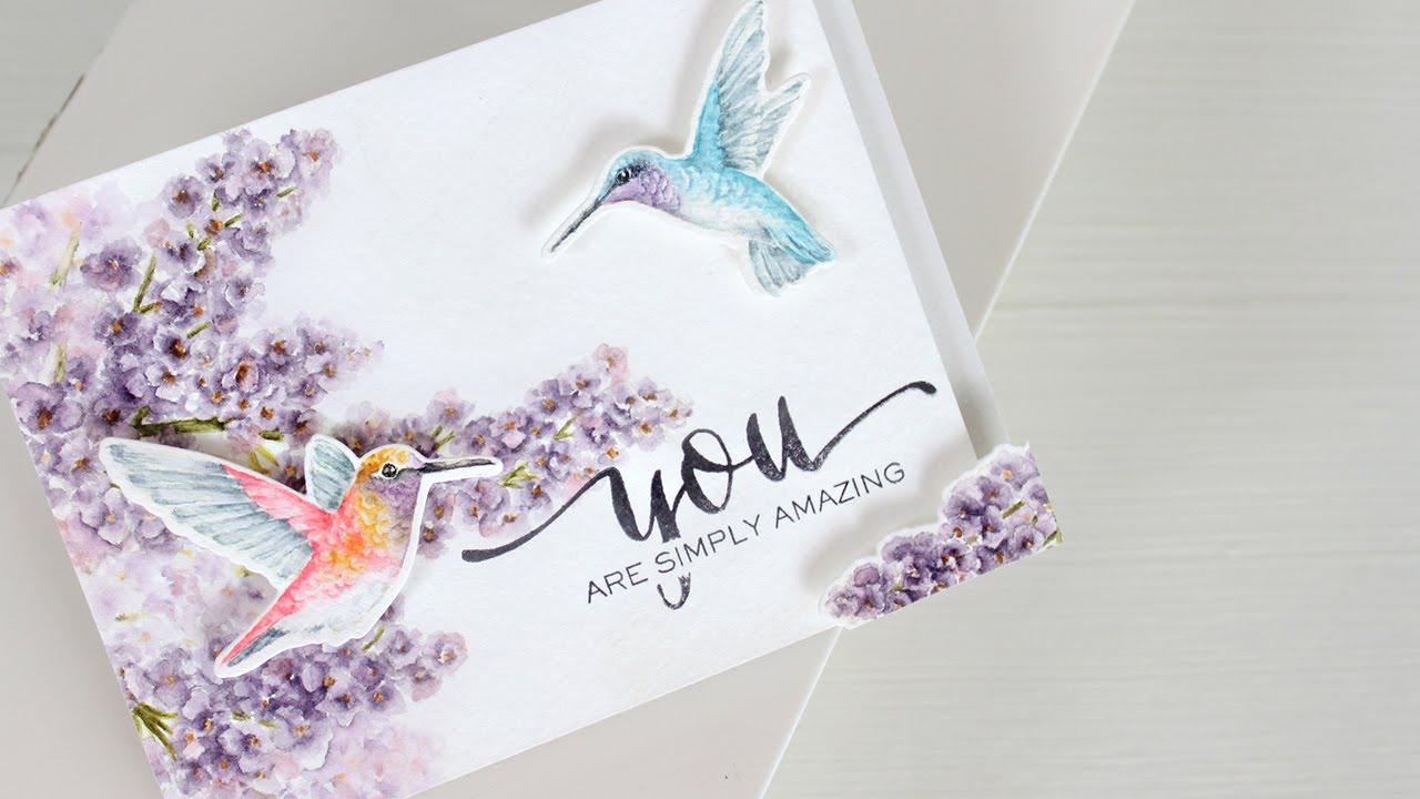 Watercolor Stamping Hummingbirds YouTube