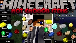 Minecraft Mod Showcase: NOT ENOUGH ITEMS (Cheat in items and learn how to craft!)