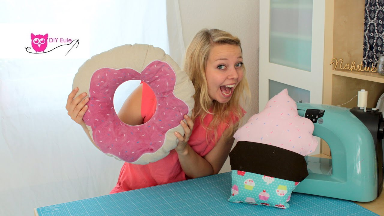 cupcake donut kissen n hen diy eule youtube. Black Bedroom Furniture Sets. Home Design Ideas